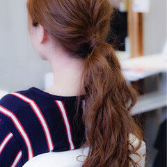 ヘアアレンジ ロング ローポニーテール ポニーテール ヘアスタイルや髪型の写真・画像