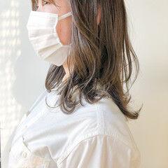 ベージュカラー レイヤーカット ヨシンモリ ナチュラル ヘアスタイルや髪型の写真・画像
