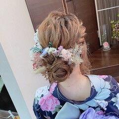 ヘアアレンジ ロング 浴衣ヘア ナチュラル ヘアスタイルや髪型の写真・画像