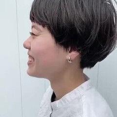 マッシュショート 小顔ショート マッシュ ショートヘア ヘアスタイルや髪型の写真・画像