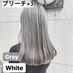 ホワイトブリーチ ナチュラル イルミナカラー ホワイトアッシュ