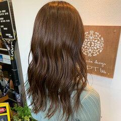 ナチュラルブラウンカラー ロング ミルクティーブラウン ココアブラウン ヘアスタイルや髪型の写真・画像