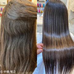 ダークトーン 髪質改善 髪質改善トリートメント ナチュラル ヘアスタイルや髪型の写真・画像