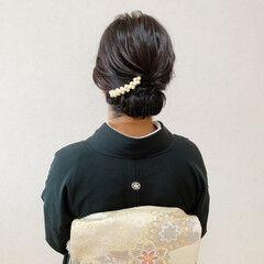 結婚式 エレガント アップスタイル ミディアム ヘアスタイルや髪型の写真・画像