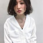 パーマ インナーカラー 艶髪 アッシュ