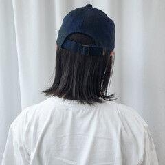 ボブ アンニュイほつれヘア デートヘア ストリート ヘアスタイルや髪型の写真・画像