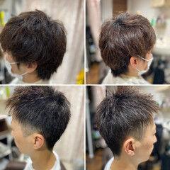 ショート メンズヘア フェードカット ショートヘア ヘアスタイルや髪型の写真・画像