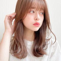 透明感 ミディアム 小顔ヘア レイヤーカット ヘアスタイルや髪型の写真・画像