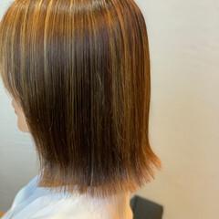 3Dハイライト 大人ハイライト 極細ハイライト フェミニン ヘアスタイルや髪型の写真・画像