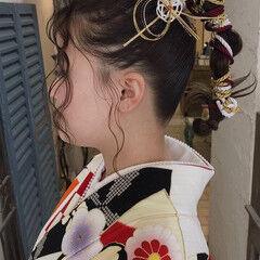 ポニーテールアレンジ 卒業式 ナチュラル ハンドメイド ヘアスタイルや髪型の写真・画像