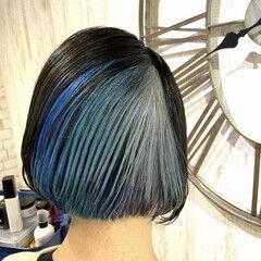 インナーカラー 圧倒的透明感 デザインカラー 透明感カラー ヘアスタイルや髪型の写真・画像