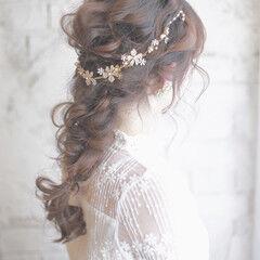 カチューシャ ショート 花 ヘアアレンジ ヘアスタイルや髪型の写真・画像
