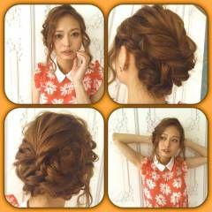 ショート 簡単ヘアアレンジ ウェーブ ヘアアレンジ ヘアスタイルや髪型の写真・画像