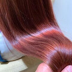 髪質改善トリートメント ラベンダーピンク ロング フェミニン ヘアスタイルや髪型の写真・画像