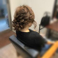 フォーマル ロング ヘアアレンジ フェミニン ヘアスタイルや髪型の写真・画像