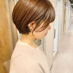 デート ベリーショート ナチュラル ゆるふわ ヘアスタイルや髪型の写真・画像
