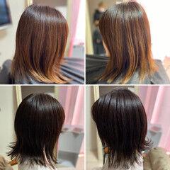 ウルフパーマヘア ガーリー ウルフ女子 ミディアム ヘアスタイルや髪型の写真・画像