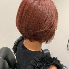 韓国ヘア ボブ ピンクパープル ラベンダーピンク ヘアスタイルや髪型の写真・画像