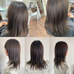 髪質改善カラー ロング 脱縮毛矯正 髪質改善 ヘアスタイルや髪型の写真・画像