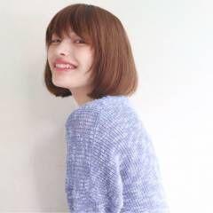 モテ髪 ボブ マルサラ ナチュラル ヘアスタイルや髪型の写真・画像