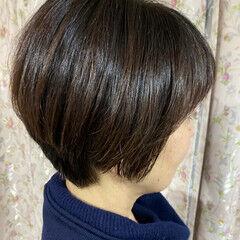 ショート 3Dハイライト ベリーショート エレガント ヘアスタイルや髪型の写真・画像