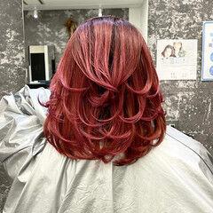 ミディアムレイヤー 外国人風カラー ナチュラル ミディアム ヘアスタイルや髪型の写真・画像
