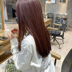 ラベンダーアッシュ ラベンダーピンク ナチュラル ロング ヘアスタイルや髪型の写真・画像