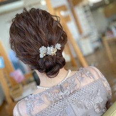 ボブ ナチュラル 大人女子 結婚式ヘアアレンジ ヘアスタイルや髪型の写真・画像