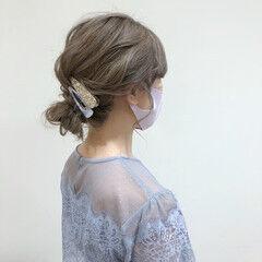 結婚式髪型 結婚式 シアーベージュ 結婚式アレンジ ヘアスタイルや髪型の写真・画像