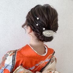 和装ヘア 振袖 着物 ボブ ヘアスタイルや髪型の写真・画像