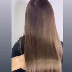 ロング oggiotto 最新トリートメント ナチュラル ヘアスタイルや髪型の写真・画像