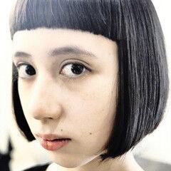 ショートバング ボブ ワンレングス ミニボブ ヘアスタイルや髪型の写真・画像