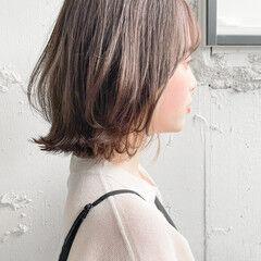 アンニュイほつれヘア デート 切りっぱなしボブ ボブ ヘアスタイルや髪型の写真・画像