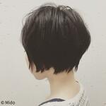 ナチュラル 黒髪 ショート