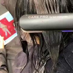 髪質改善カラー セミロング トリートメント 髪質改善トリートメント ヘアスタイルや髪型の写真・画像