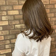 大人ミディアム 透明感 艶髪 ミディアム ヘアスタイルや髪型の写真・画像