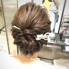 パーティ ヘアアクセサリー 結婚式 お呼ばれ ヘアスタイルや髪型の写真・画像