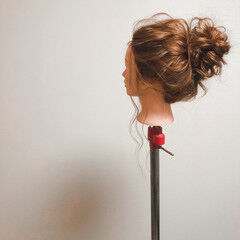 フェミニン アップスタイル ロング ヘアセット ヘアスタイルや髪型の写真・画像
