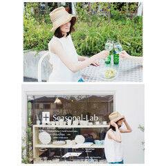 ヘアアレンジ ミディアム 夏 麦わら帽子 ヘアスタイルや髪型の写真・画像