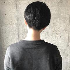 黒髪 スポーツ ハンサムショート ショート ヘアスタイルや髪型の写真・画像