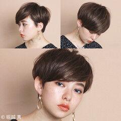 ショートボブ 比留川游 簡単 大人かわいい ヘアスタイルや髪型の写真・画像