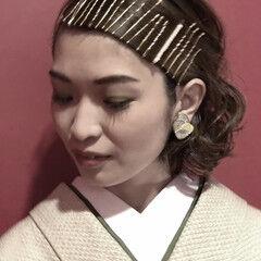 ヘアピン ショートボブ ブライダル モード ヘアスタイルや髪型の写真・画像