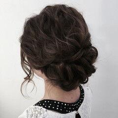 ヘアセット ツイスト セミロング ニュアンス ヘアスタイルや髪型の写真・画像