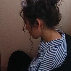 ゆるふわ 後れ毛 メッシーバン ガーリー ヘアスタイルや髪型の写真・画像
