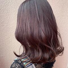 透明感 セミロング モテ髪 ニュアンス ヘアスタイルや髪型の写真・画像