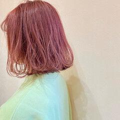 ふわふわヘアアレンジ 巻き髪 ボブ 簡単ヘアアレンジ ヘアスタイルや髪型の写真・画像
