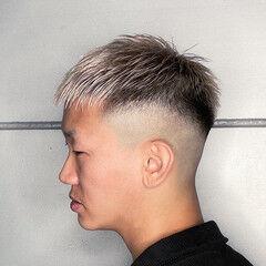 ショート メンズヘア フェードカット スキンフェード ヘアスタイルや髪型の写真・画像