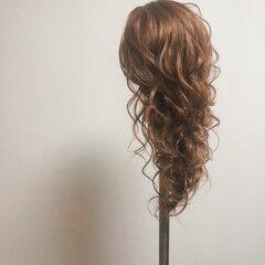 フェミニン 結婚式 ブライダル ロング ヘアスタイルや髪型の写真・画像