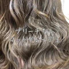 外国人 グラデーションカラー ナチュラル ミディアム ヘアスタイルや髪型の写真・画像