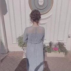 ヘアセット ボブ ヘアアレンジ 結婚式ヘアアレンジ ヘアスタイルや髪型の写真・画像